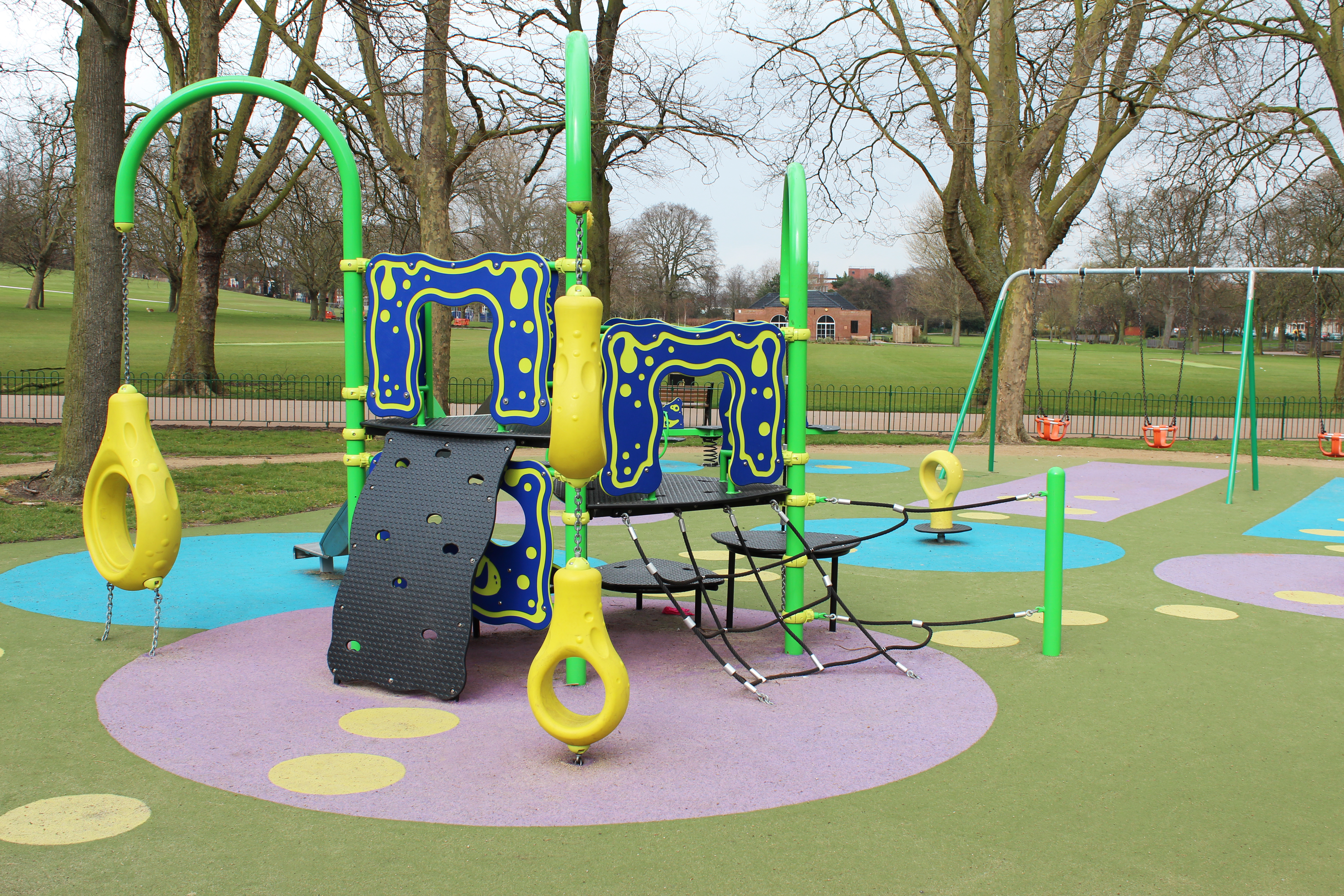 Jazzing up playgrounds with colours and zones with synthetic surfaces