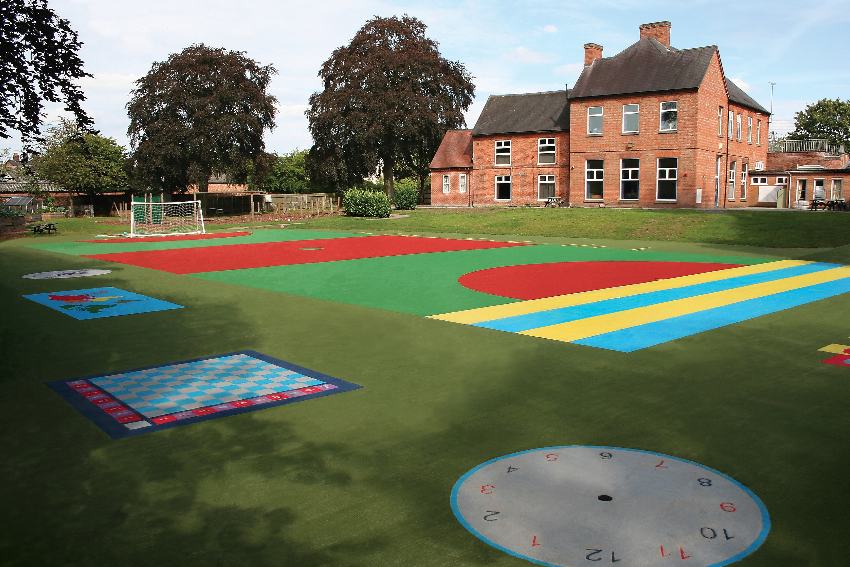 Synthetic surface installation and maintenance by WGS